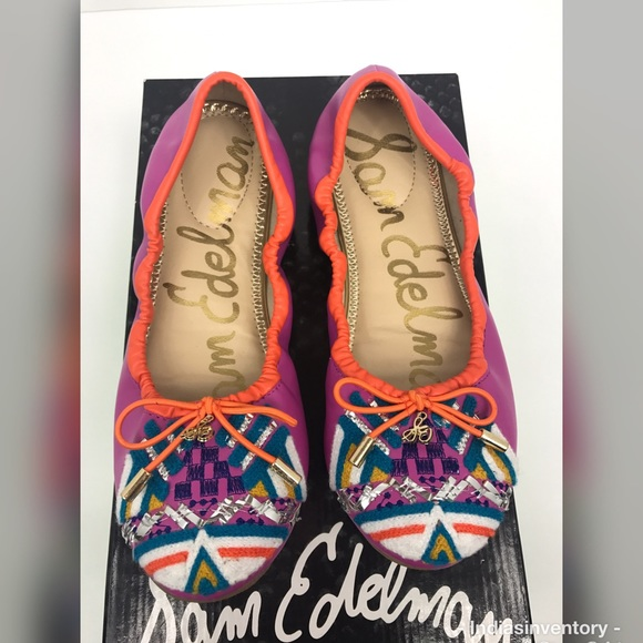 5d97ef90391be Sam Edelman Girl s Felicia Embroidered Ballet Flat.  M 5aee2c6f85e605c027aa658d